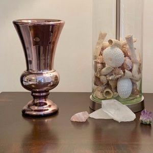 Vintage Lustreware Vase, Purple Mirror-Glass Vase